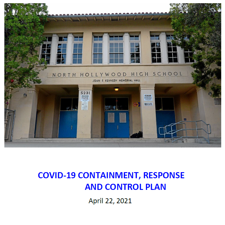 LAUSD Containment Plan and CA Checklist