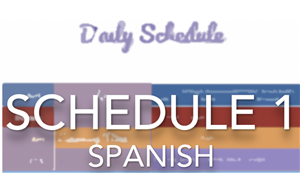 daily schedule spanish