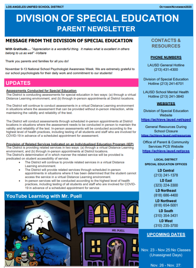 Parent Newsletter Image