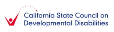 California State Council on Development Disabilities Logo