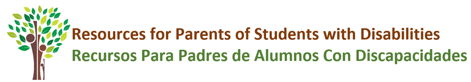 Resources for Families of Students with Disabilities Title and Logo
