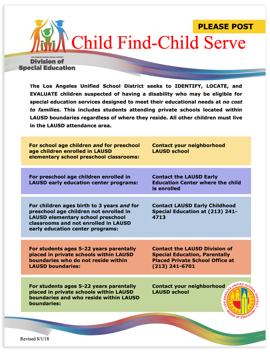Child Find-Child Serve Flyer