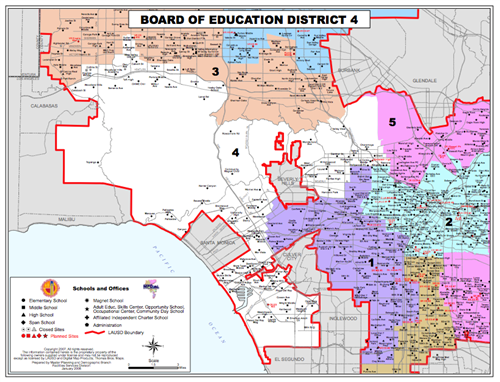 Lausd District Map Our Schools / BD 4 District Map Lausd District Map