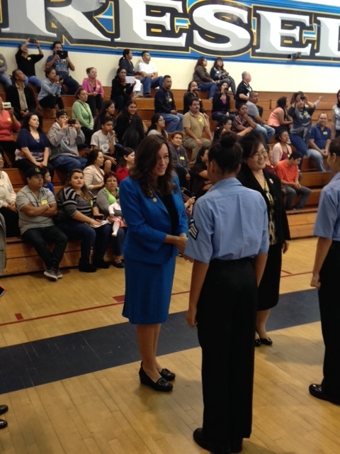 Reseda High School Police Academy Formal Inspection
