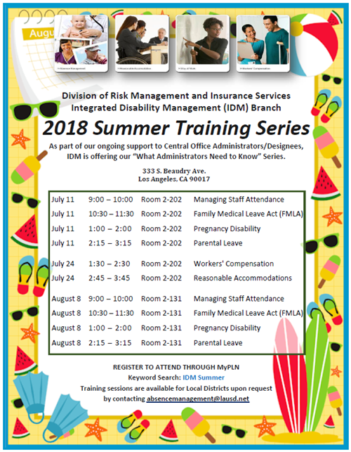 2018 Summer Training Series