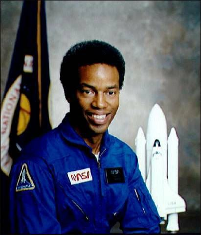 color photo of astronaut Guion Bluford