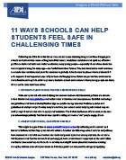 11 Ways Schools Can Help Students Feel Safe in Challenging Times