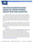 Helping Students Make Sense of news Stories About Bias and Injustice