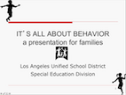 Behavior Parent Workshop