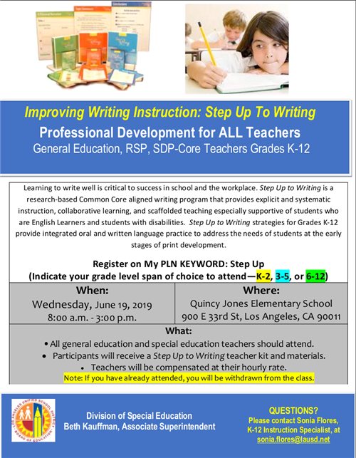STEP Up to Writing Flyer - Uploaded 6.11.19