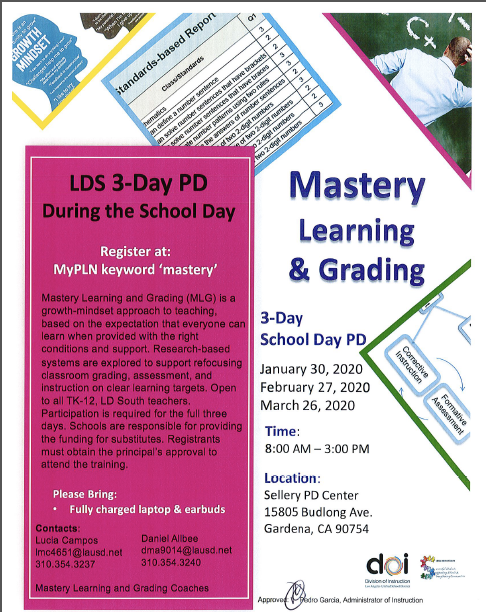 Mastery Learning and Grading School Day PD Series