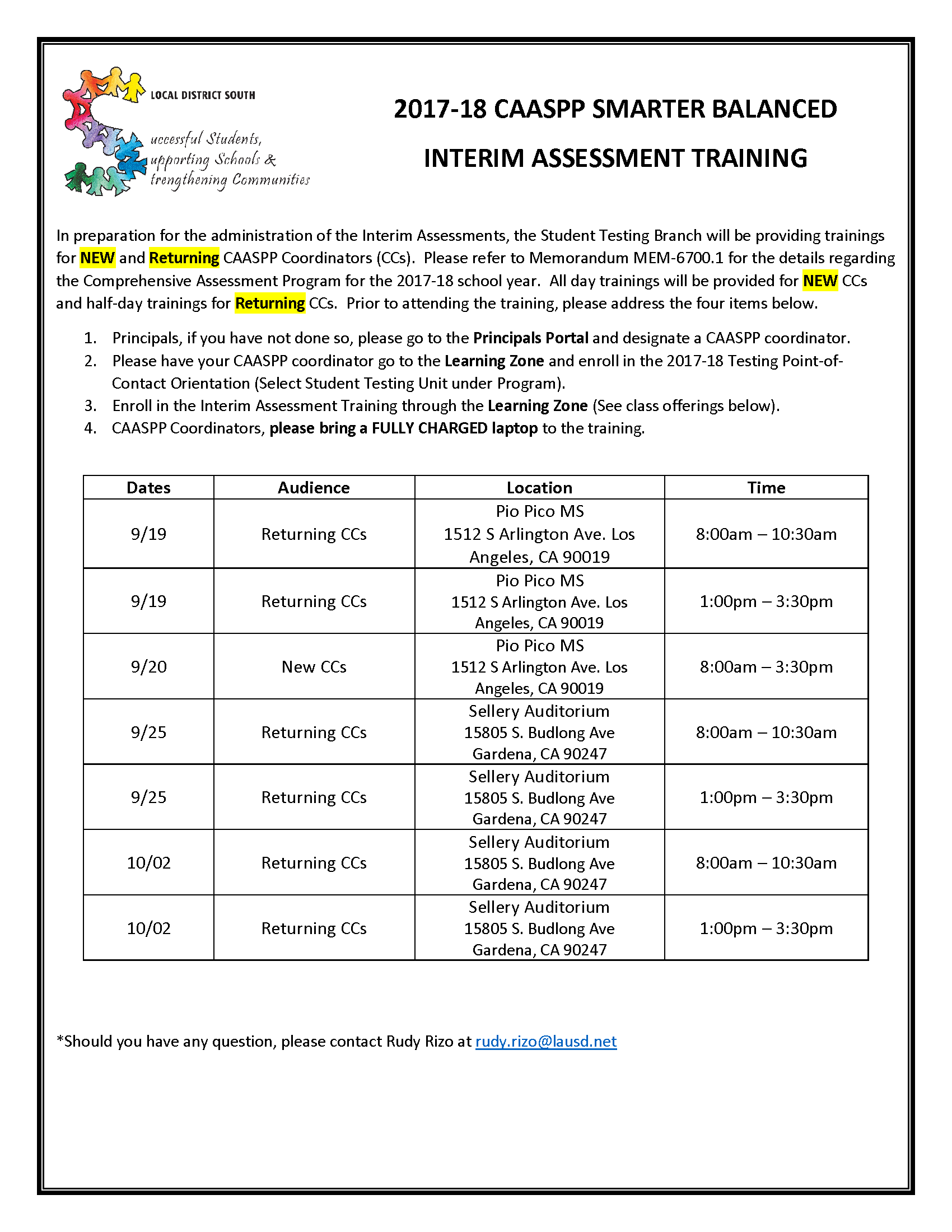 flyer for training