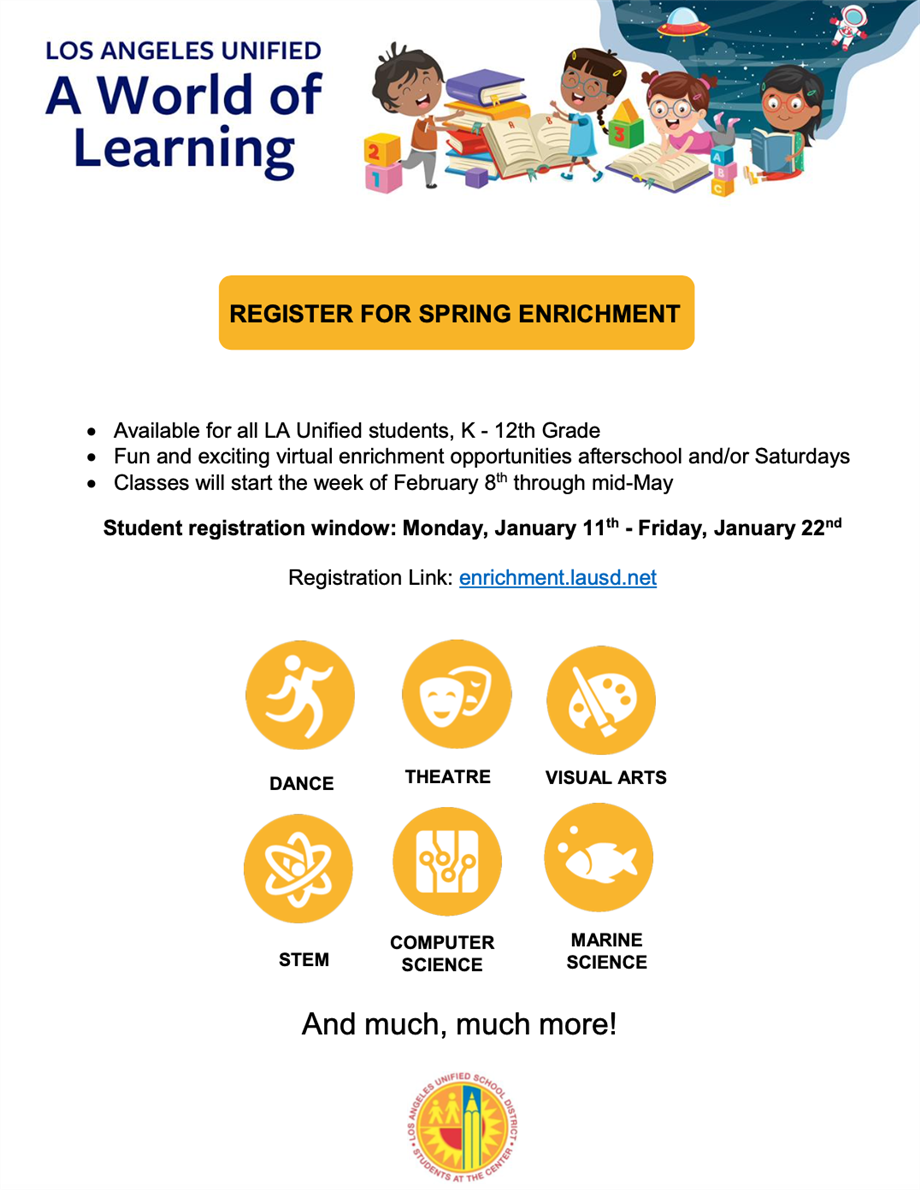 A World of Learning Spring Enrichment