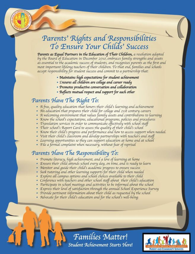Parent's Rights and Responsibilities