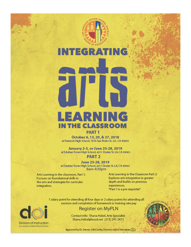 integrating arts learning in the classroom