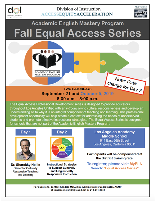 Equal Access Series Flyer