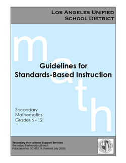 Guidelines for Standards-Based Instruction