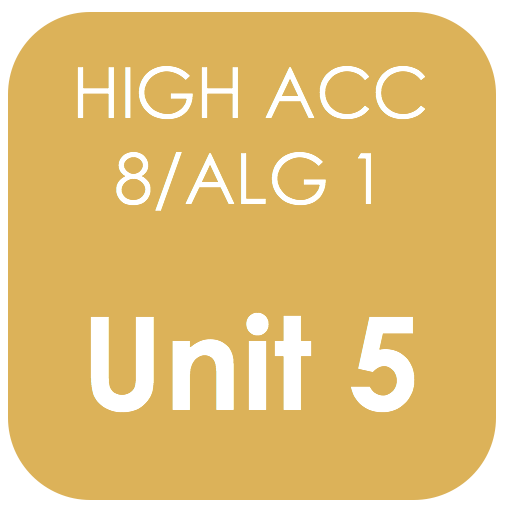 Highly Acc 8/Alg 1 Unit 5