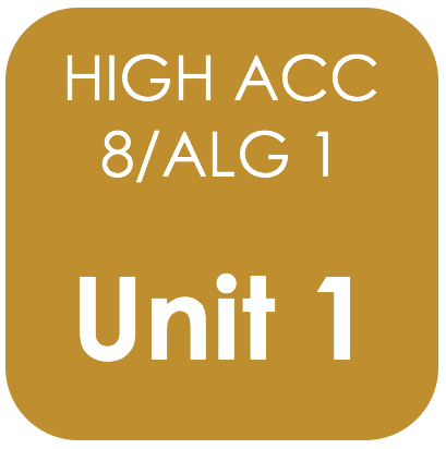Highly Acc 8/Alg 1-Unit 1