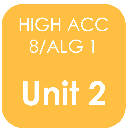 Highly Acc Alg 1-Unit 2