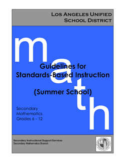 Summer Guidelines for Standards-Based Instruction