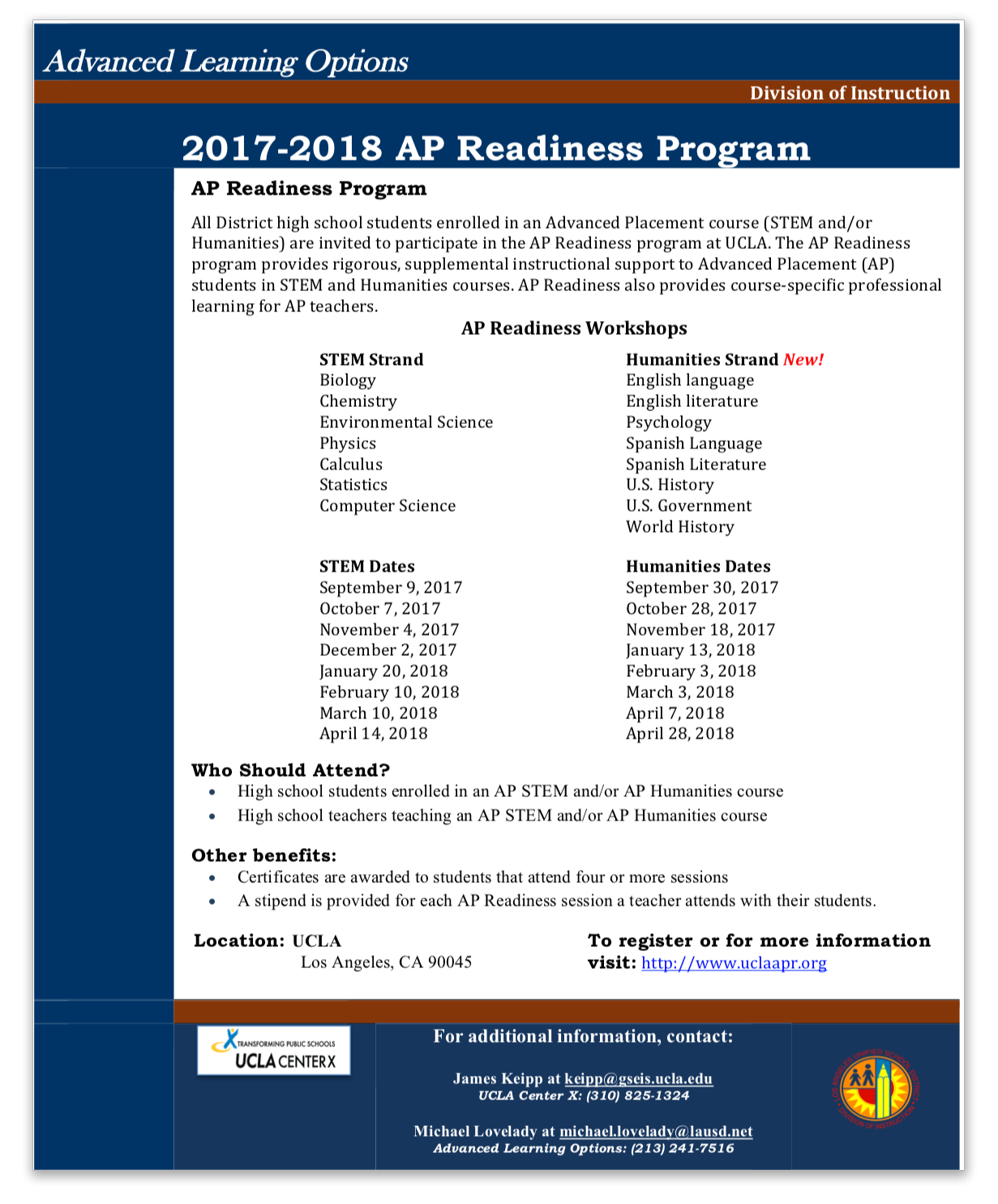 Advanced placement ap readiness flyer xflitez Image collections