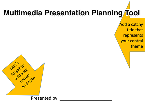 Multimedia Presentation Planning Tool