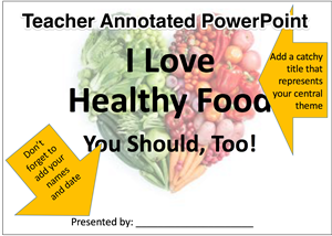 Teacher Annotated PowerPoint