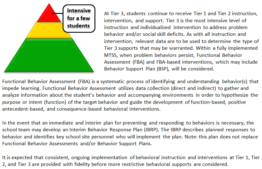 Special Education Instruction Tier 3 Strategies