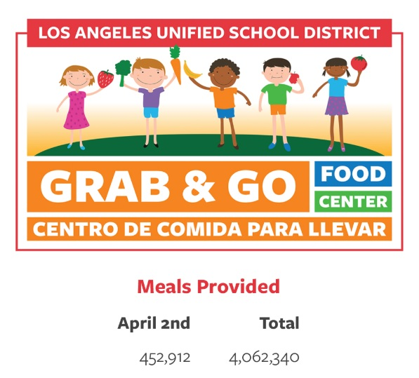 Los Angeles Unified Provides More Than 4 million Meals To Children and Families in Need (04-02-20)