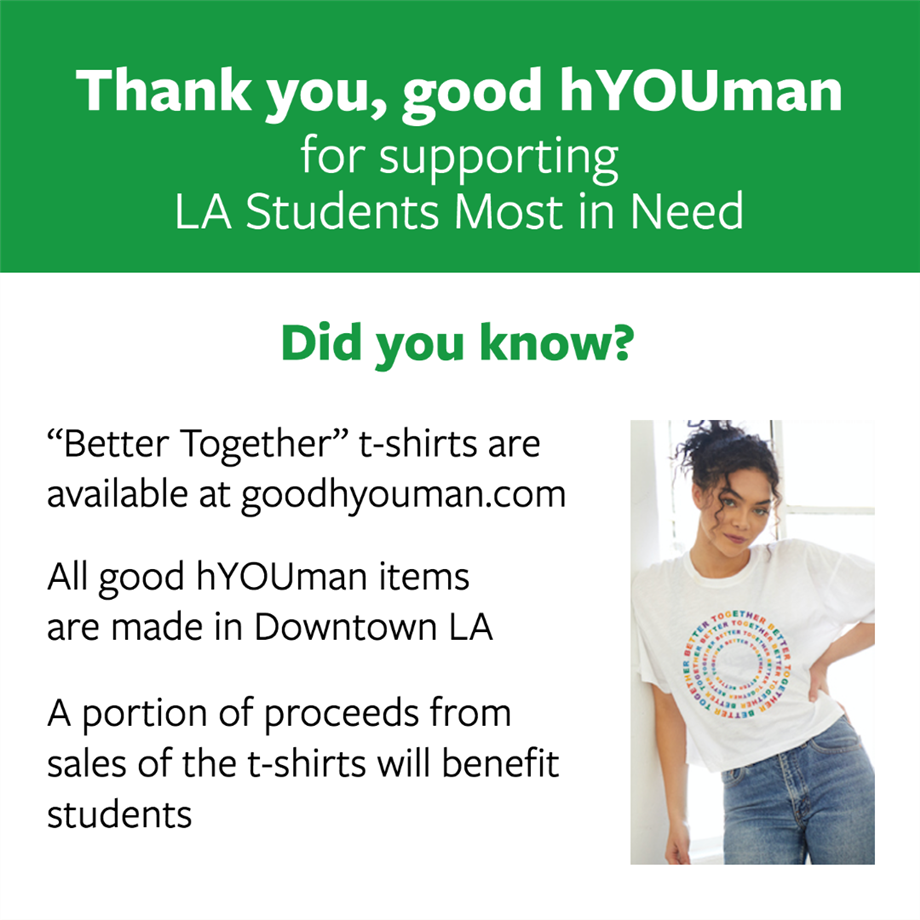 Good hYOUman Supports Students With 'Better Together' T-shirt Campaign (10-12-20)