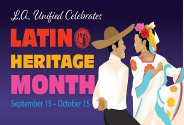 Celebrate Latino Heritage Month Sept. 15 - Oct. 15