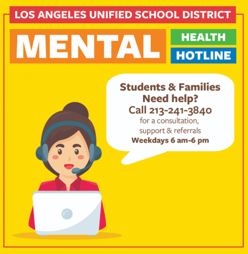 Los Angeles Unified Launches Mental Health Hotline To Help Students and Families (04-01-20)