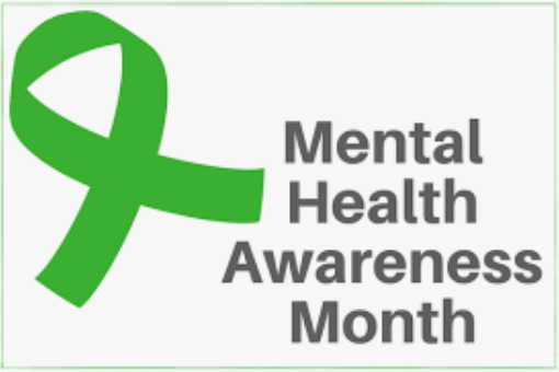 image of green sash for mental health awareness month