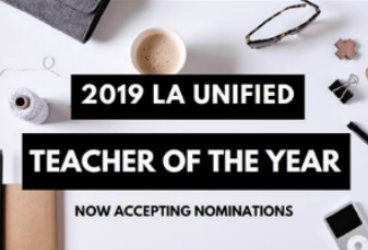 Nominate an Outstanding Teacher of the Year