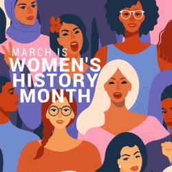 Graphic of Women's History Month