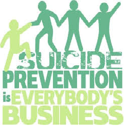 "Graphic reads: ""Suicide prevention is everybody's business"""