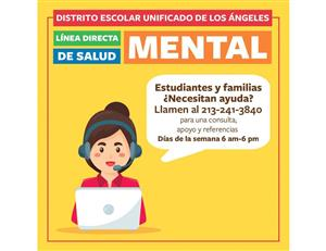LAUSD Mental Health Hotline SPN