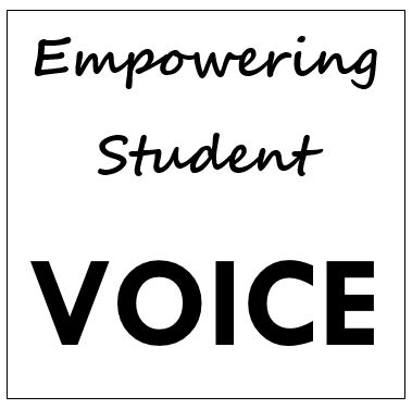 text: empowering student voice
