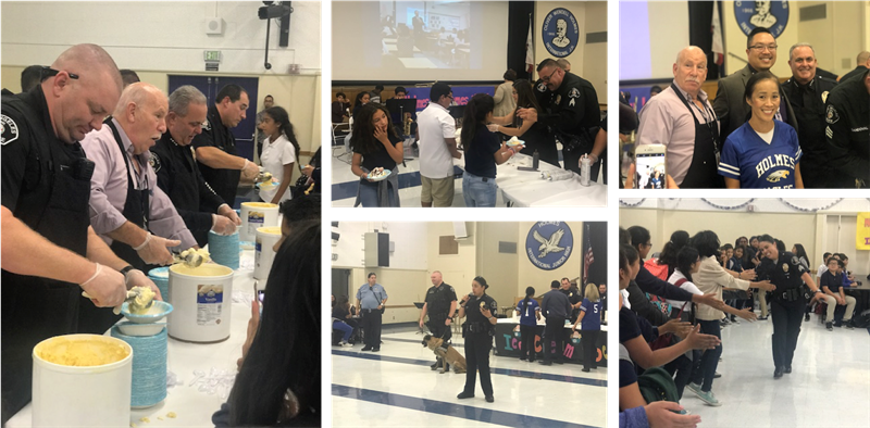 Ice Cream with a Cop at Holmes MS
