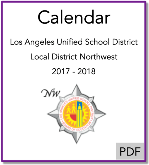 Local District Northwest Calendar 2017-2018