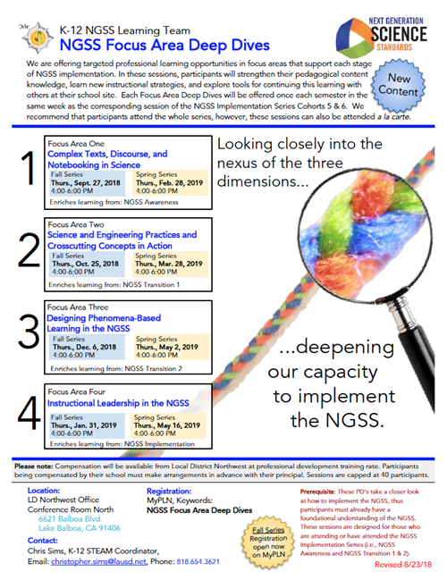 NGSS Focus Area Deep Dives