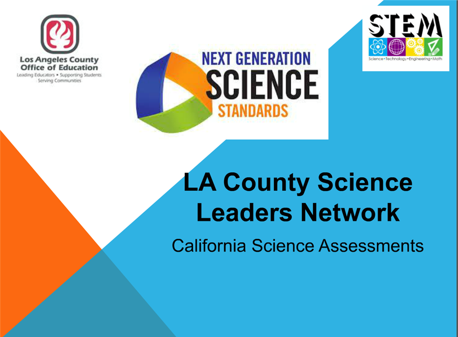 California Science Assessments Update Webinar