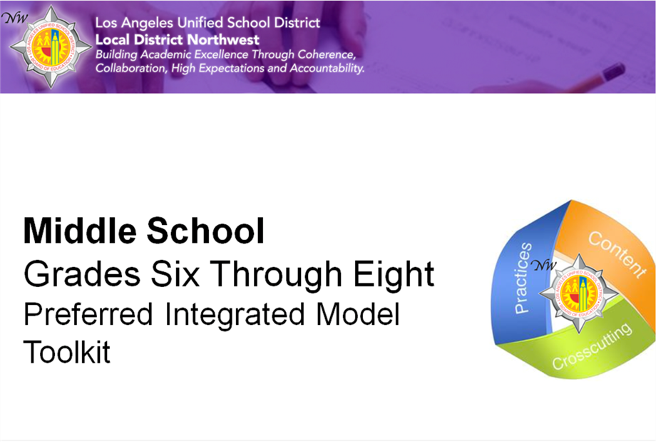Middle School NGSS Toolkit Available