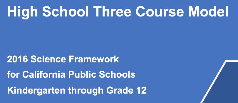 High School Three Course Model Pilot for 2018-2019