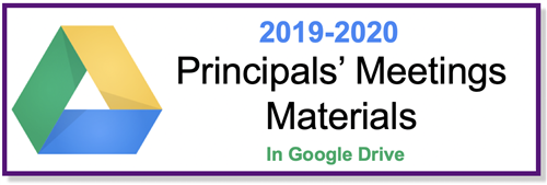 2019-2020 Principals' Meeting Materials