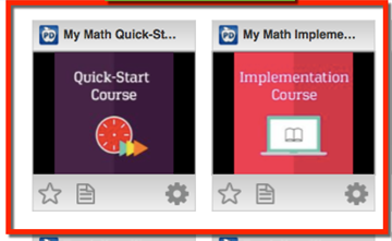 My Math Online Professional Development