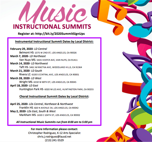 Music Instructional Summits