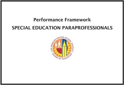 SPED Performance Framework