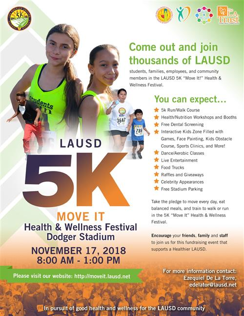 "LAUSD 5K ""Move It"" Flyer"